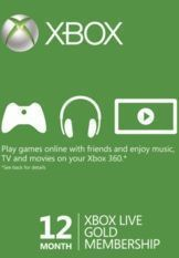 12 Month Xbox Live Gold Membership - Brazil
