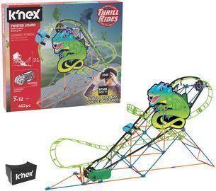 K'Nex Thrill Rides Twisted Lizard Roller Coaster Building Set