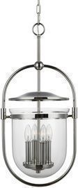 Feiss Osborne 4 Light 13 Wide Taper Candle Pendant (Polished Nickel)