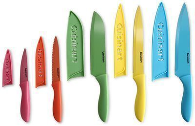 Cuisinart 10-Pc. Ceramic-Coated Cutlery Set with Blade Guards
