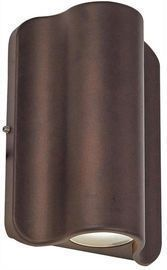 Bronze Outdoor Integrated LED Wall Lantern Sconce