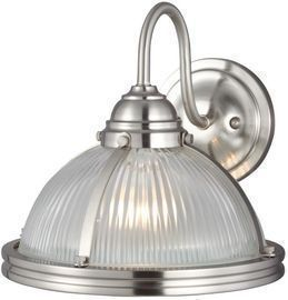 Sea Gull Lighting Pratt Street 1-Light Brushed Nickel Wall Sconce