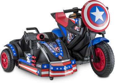 Kid Trax Marvel's Captain America Motorcycle with Sidecar Ride-On