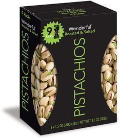 Back in Stock! Wonderful Pistachios 1.5-Oz. Bags 9-Pack