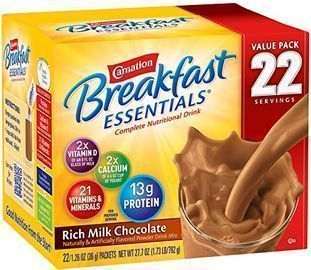 Carnation Breakfast Essentials Powder Drink (Box of 22 Packets)