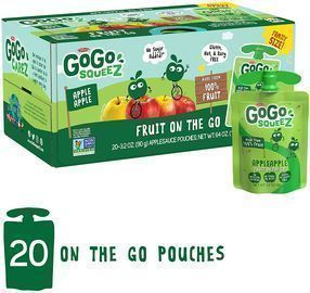 GoGo SqueeZ Applesauce on the Go (20 Pouches)