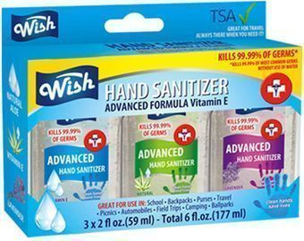 Wish Hand Sanitizer 2oz 3PK Box Set