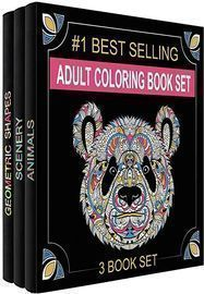 Adult Coloring Books, Set Of 3