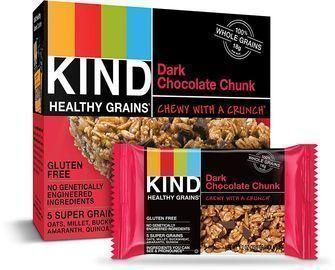 30-Count 1.2oz KIND Healthy Grains Bars (Dark Chocolate Chunk)