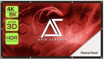 Akia 120 Indoor Outdoor Collapsible Portable Projector Screen