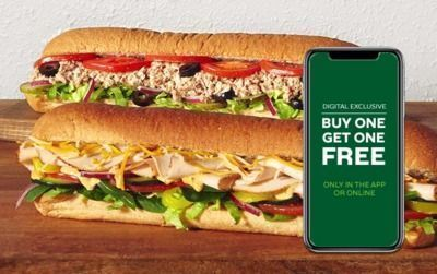 Buy 1 Footlong Sub, Get 1 Free (Online/App Only)