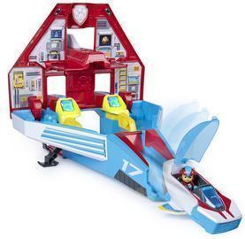 PAW Patrol, Super PAWs, 2-in-1 Transforming Mighty Pups Jet Command Center