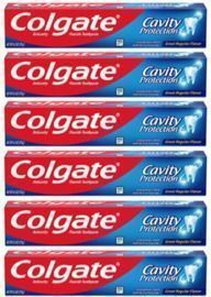 Colgate Cavity Protection Toothpaste with Fluoride - 6 Pack