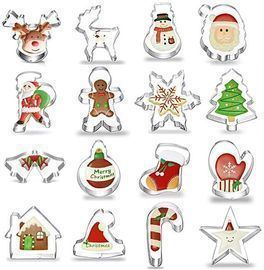 17 Pcs Christmas/Holiday Cutter Set