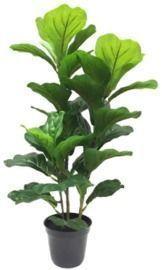 24 Faux Fiddle Leaf Fig Plant in Black Pot