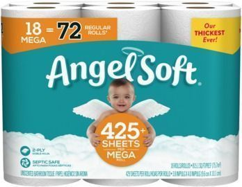 Back in Stock! 18-Count Angel Soft Mega Roll Bath Tissue