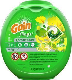 81- Count Gain flings! Liquid Laundry Detergent Pacs
