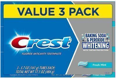 3-Count 5.7oz Crest Whitening Toothpaste w/ Baking Soda & Peroxide