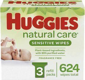 Huggies 624 Count Natural Care Sensitive Baby Wipes
