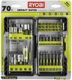 Ryobi Impact Rated Driving Kit (70-Piece)