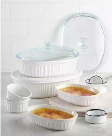 Corningware French White 10-Pc. Bakeware Set