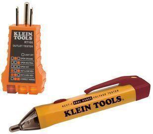 Klein Tools Dual Range NCVT + RT105 Outlet Tester