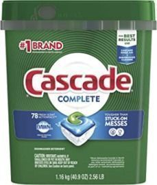 Cascade Complete ActionPacs Dishwasher Detergent -78ct