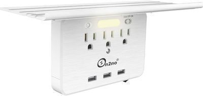 On2no 3 Outlet Wall Shelf w/ 3 USB Ports
