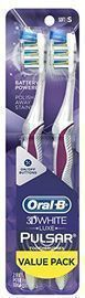 Oral-B Pulsar 3d White Advanced Vivid Soft Toothbrush Twin Pack