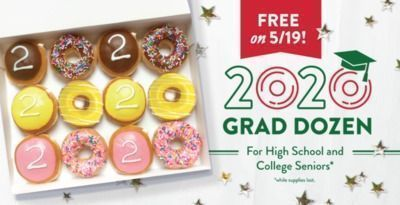 Krispy Kreme - Free Dozen Donuts for Class of 2020!