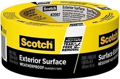 Scotch Painters Tape 2097-48EC Exterior Surface, 1.88 inch x 45 yard