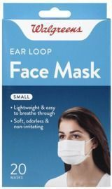 Walgreens Earloop Face Masks Small