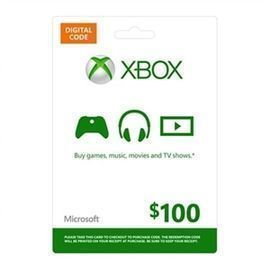 $100 Microsoft Xbox Digital Gift Card