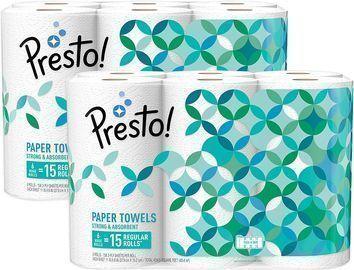 Presto! 12 Count Flex-a-Size Paper Towels, Huge Roll