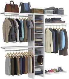 ClosetMaid Impressions Closet Systems: 6-Pieces White Wood
