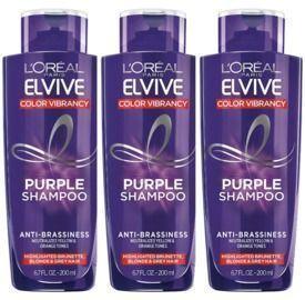 THREE L'Oreal Paris Elvive Color Vibrancy Shampoos