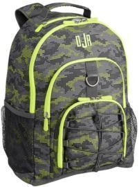 Gear-Up Dot Camo Gray Neon Backpack