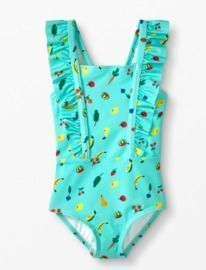 Toddlers Ruffle Strap One Piece Suit