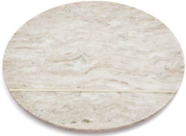 12 Beige Marble Round Cheese Board