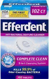 Efferdent Denture Cleanser 102 Tablets