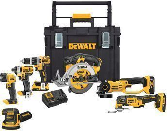 DeWalt 20-Volt MAX Lithium-Ion Cordless 7 Tool Combo Kit w/ ToughSystem