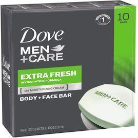 10 Bars - Dove Men+Care 3 in 1 Bar Soap