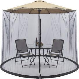 9ft Patio Umbrella Bug Screen w/ Zipper Door