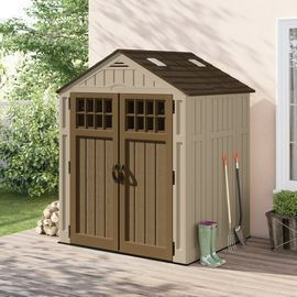 Suncast 6 ft. 3 in. W x 5 ft. 6 in. D Resin Storage Shed