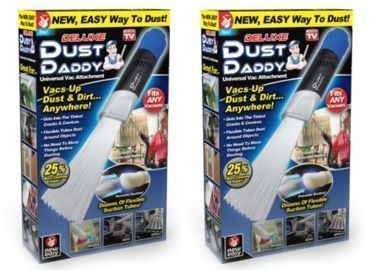 As Seen on TV Dust Daddy Deluxe Vacuum Attachment 2-Pack