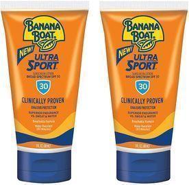 2pk of Banana Boat Ultra Sport Sunscreen Lotion