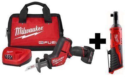 Milwaukee M12 FUEL 12V Brushless Hackzall Kit + M12 3/8 Ratchet