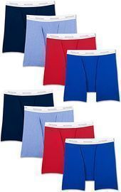 8-Pack Fruit of the Loom Men's Boxer Briefs