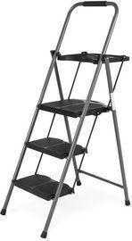 Folding Steel 3-Step Ladder w/ Hand Grip