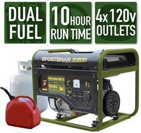 Sportsman 4,000/3,500-Watt Dual Fuel Powered Portable Generator